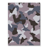 Gray Army Camo Pattern Stretched Eco-Canvas 18X24 Wall Decor