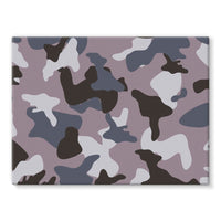 Gray Army Camo Pattern Stretched Eco-Canvas 24X18 Wall Decor