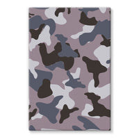 Gray Army Camo Pattern Stretched Eco-Canvas 24X36 Wall Decor