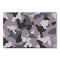 Gray Army Camo Pattern Stretched Eco-Canvas 30X20 Wall Decor