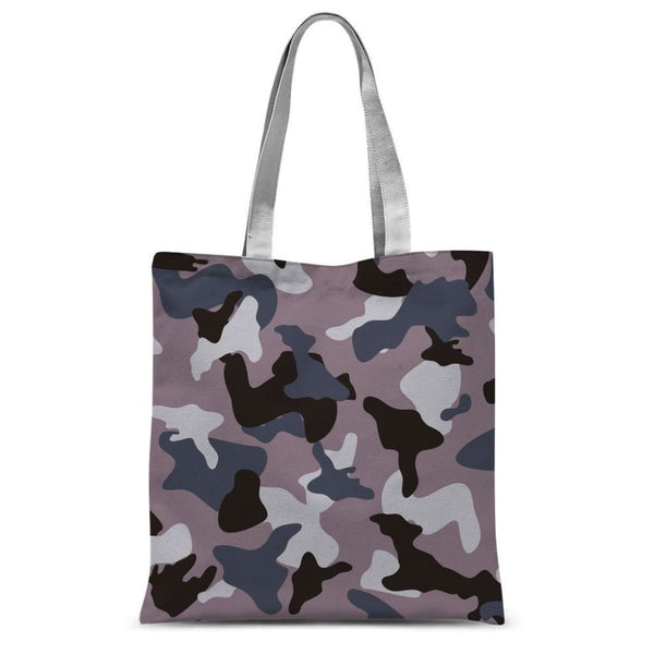 Gray Army Camo Pattern Sublimation Tote Bag 15X16.5 Accessories