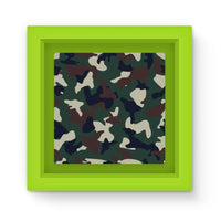 Green Brown Woodland Camo Magnet Frame Homeware