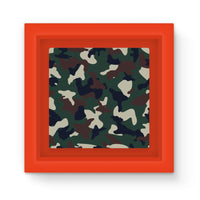 Green Brown Woodland Camo Magnet Frame Red Homeware