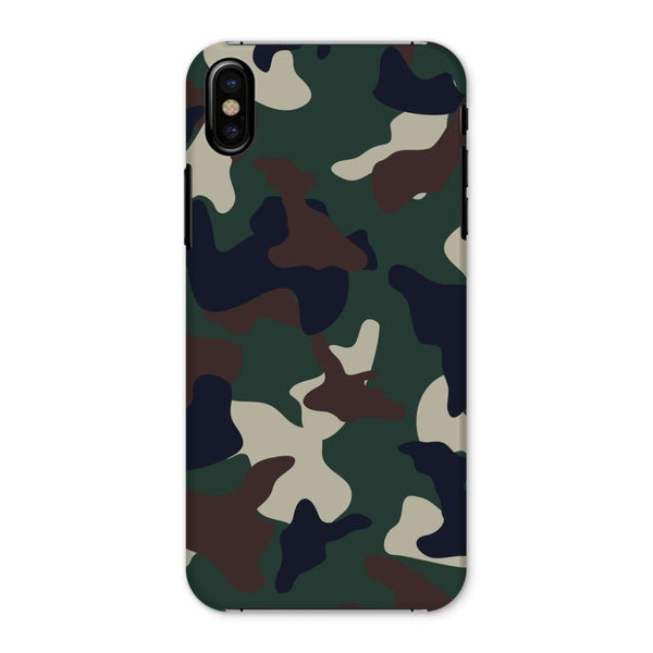 Green Brown Woodland Camo Phone Case Iphone X / Snap Gloss & Tablet Cases
