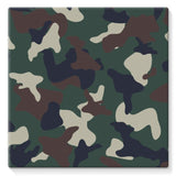 Green Brown Woodland Camo Stretched Eco-Canvas 10X10 Wall Decor