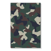 Green Brown Woodland Camo Stretched Eco-Canvas 24X36 Wall Decor