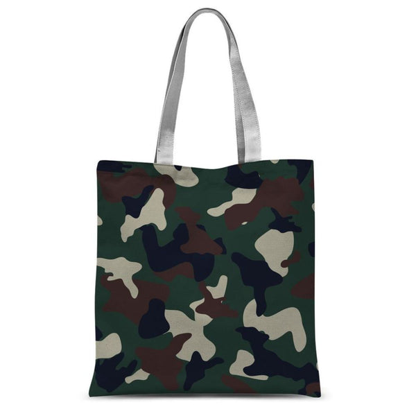 Green Brown Woodland Camo Sublimation Tote Bag 15X16.5 Accessories