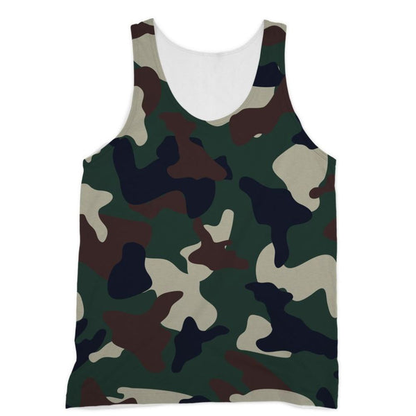 Green Brown Woodland Camo Sublimation Vest Xs Apparel