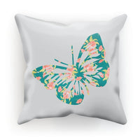 Green Cayenne Butterfly Cushion Faux Suede / 12X12 Homeware