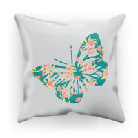 Green Cayenne Butterfly Cushion Faux Suede / 18X18 Homeware