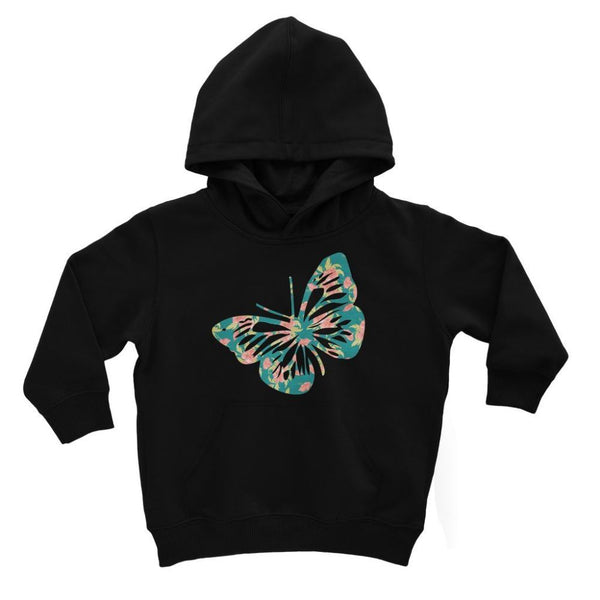 Green Cayenne Butterfly Kids Hoodie 3-4 Years / Jet Black Apparel