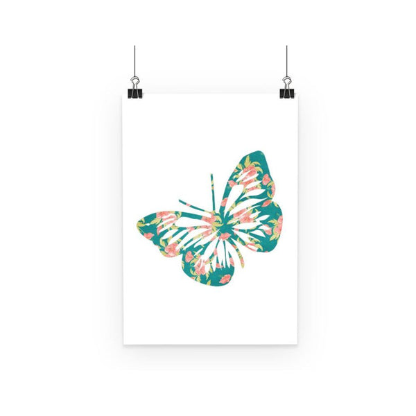 Green Cayenne Butterfly Poster A3 Wall Decor