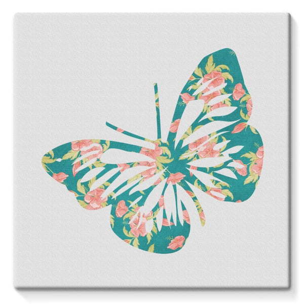 Green Cayenne Butterfly Stretched Eco-Canvas 10X10 Wall Decor