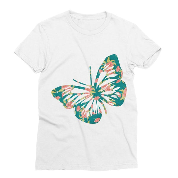 Green Cayenne Butterfly Sublimation T-Shirt Xs Apparel