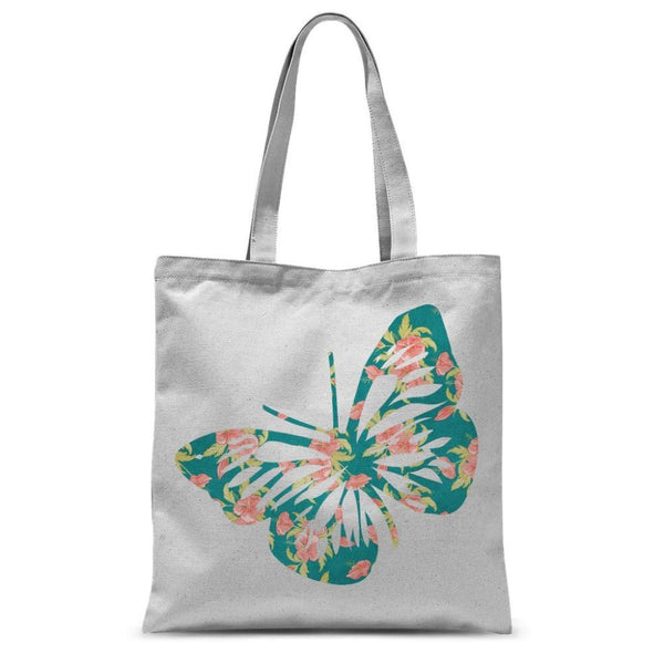 Green Cayenne Butterfly Sublimation Tote Bag 15X16.5 Accessories