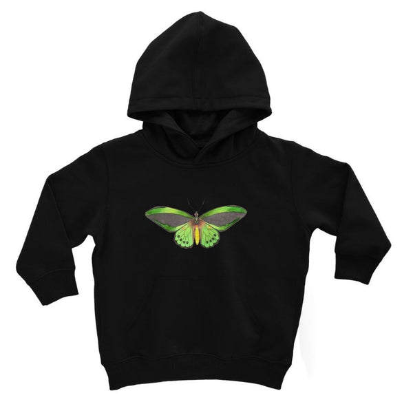 Green Grey Butterfly Kids Hoodie 3-4 Years / Jet Black Apparel