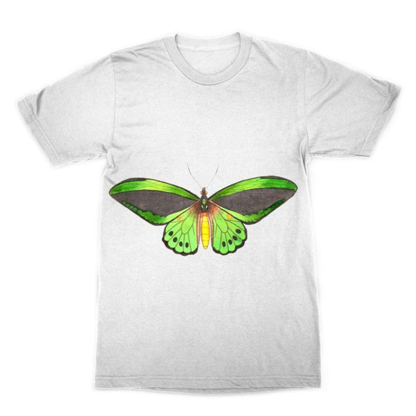Green Grey Butterfly Sublimation T-Shirt Xs Apparel