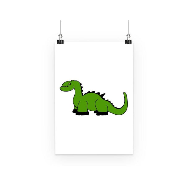 Green Kid Dinosaur Poster A3 Wall Decor