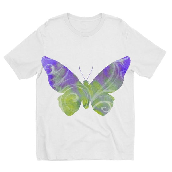 Green Purple Butterfly Kids Sublimation T-Shirt 3-4 Years Apparel