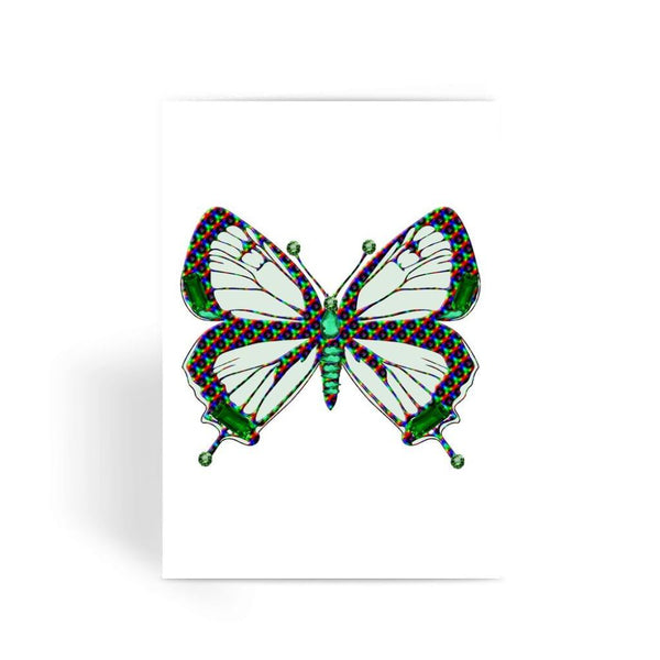 Green Rainbow Butterfly Greeting Card 1 Prints