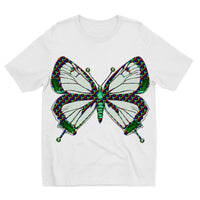 Green Rainbow Butterfly Kids Sublimation T-Shirt 3-4 Years Apparel