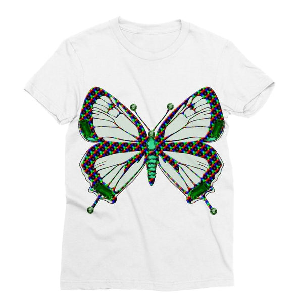 Green Rainbow Butterfly Sublimation T-Shirt Xs Apparel
