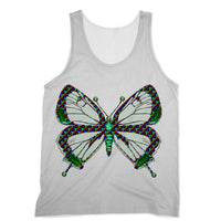 Green Rainbow Butterfly Sublimation Vest Xs Apparel