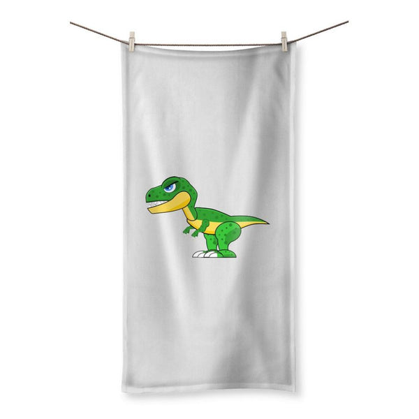 Green Rex Dinosaur Beach Towel 19.7X39.4 Homeware