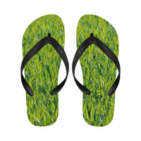 Green Summer Spring Grass Flip Flops For Men/women (040)
