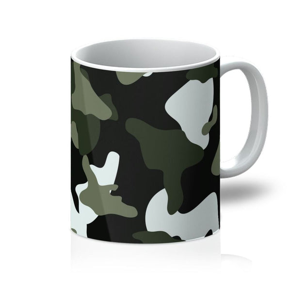 Green White Camo Pattern Mug 11Oz Homeware