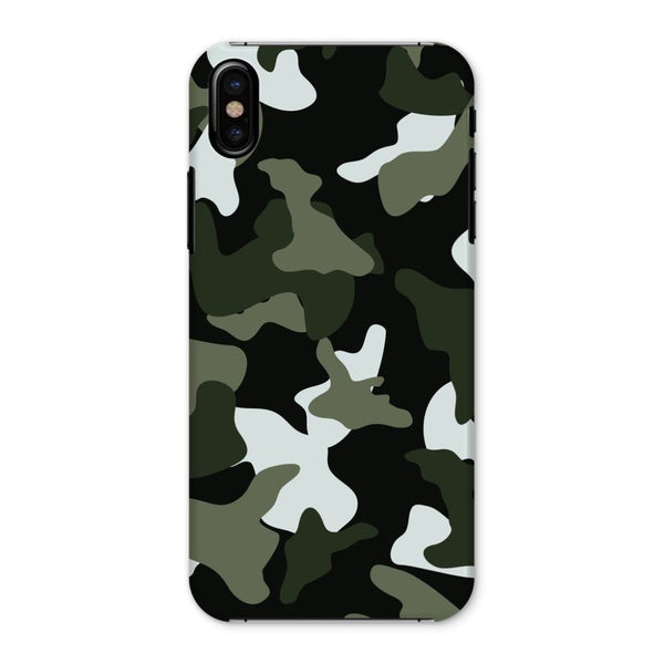 Green White Camo Pattern Phone Case Iphone X / Snap Gloss & Tablet Cases