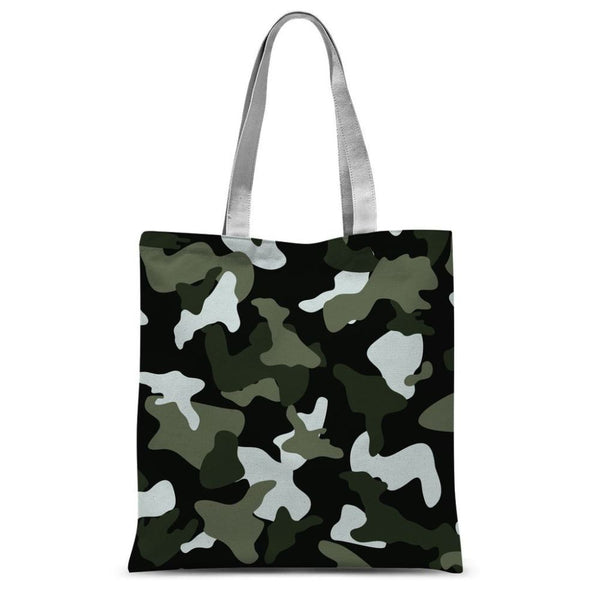 Green White Camo Pattern Sublimation Tote Bag 15X16.5 Accessories