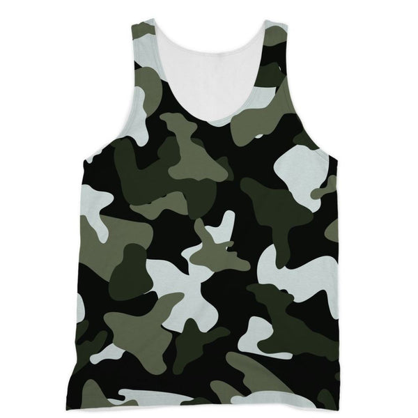 Green White Camo Pattern Sublimation Vest Xs Apparel