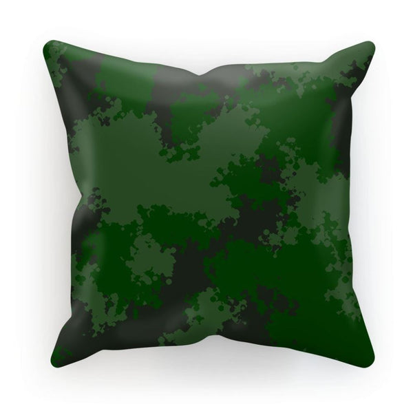 Green Woodland Camouflage Pattern Cushion Linen / 12X12 Homeware