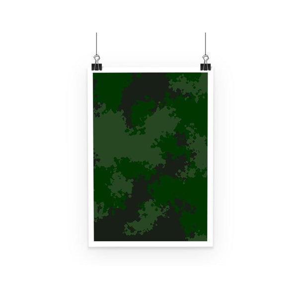 Green Woodland Camouflage Pattern Poster A3 Wall Decor