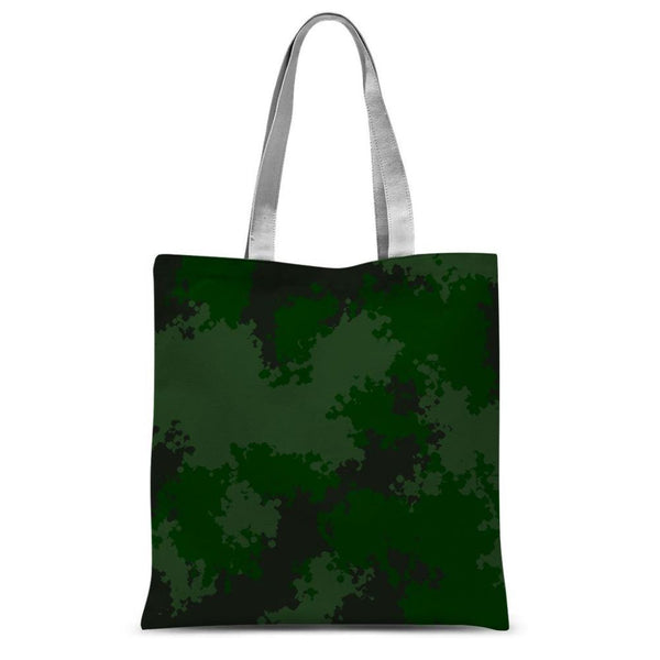 Green Woodland Camouflage Pattern Sublimation Tote Bag 15X16.5 Accessories