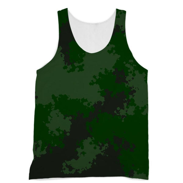 Green Woodland Camouflage Pattern Sublimation Vest Xs Apparel