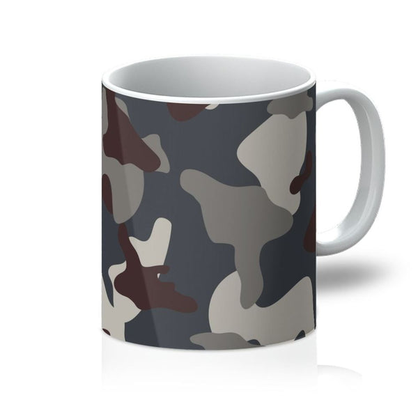 Grey Blue Army Camo Mug 11Oz Homeware