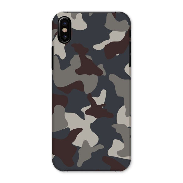 Grey Blue Army Camo Phone Case Iphone X / Snap Gloss & Tablet Cases