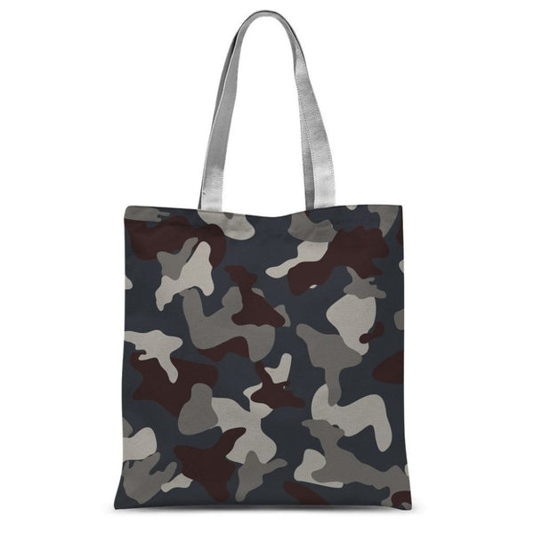 Grey Blue Army Camo Sublimation Tote Bag 15X16.5 Accessories