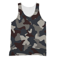 Grey Blue Army Camo Sublimation Vest Xs Apparel
