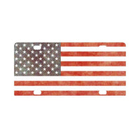 Grunge Old Vintage Usa American Flag Classic License Plate