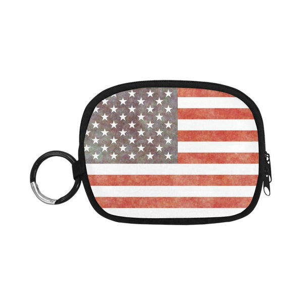 Grunge Old Vintage Usa American Flag Coin Purse (1605)