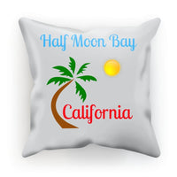 Half Moon Bay California Cushion Faux Suede / 12X12 Homeware