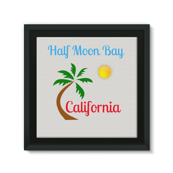 Half Moon Bay California Framed Eco-Canvas 10X10 Wall Decor