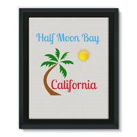 Half Moon Bay California Framed Eco-Canvas 11X14 Wall Decor