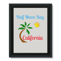 Half Moon Bay California Framed Eco-Canvas 18X24 Wall Decor