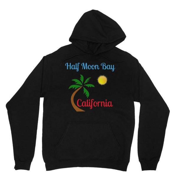 Half Moon Bay California Heavy Blend Hooded Sweatshirt Xs / Black Apparel