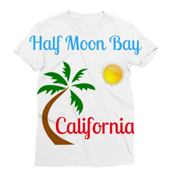 Half Moon Bay California Sublimation T-Shirt S Apparel