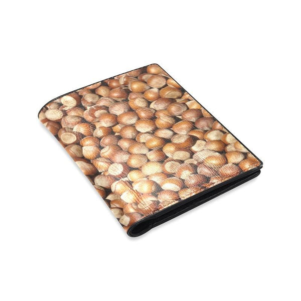 Hazelnuts Pattern Mens Leather Wallet (1612)